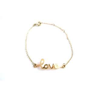 "14k Gold-Filled ""Love"" Bracelet"