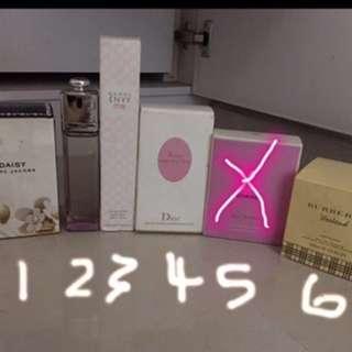Perfume Daisy, Dior , Gucci Eau