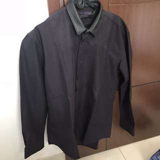 Kemeja Lengan Panjang Kerah Leather EXECUTIVE