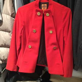 Tory Burch short winter coat Sz 2
