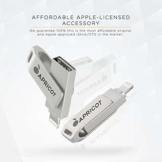 MUST HAVE Apricot OTG (USB for iPhone, iPad, etc.)