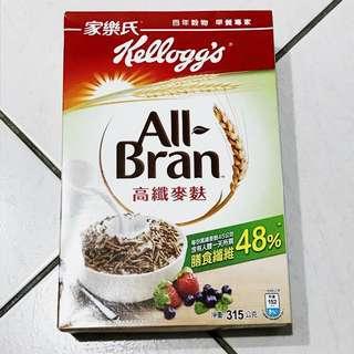 家樂氏 高纖麥麩 穀物 早餐 膳食纖維