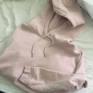 Medium pink garage hoodie. Fits a bit larger