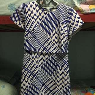 Dress Blue & White