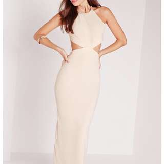 MAXI FORMAL NUDE DRESS GOWN