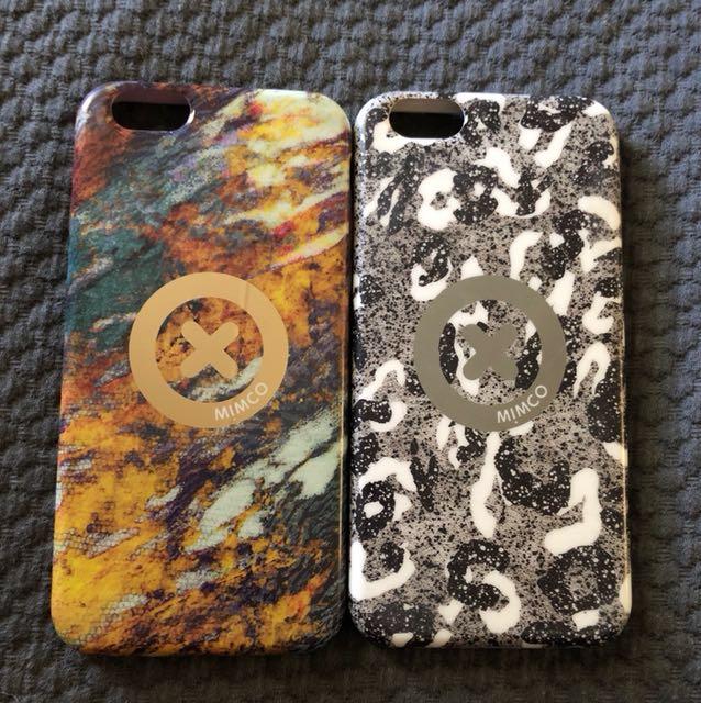 2 x Mimco iPhone 6s cases