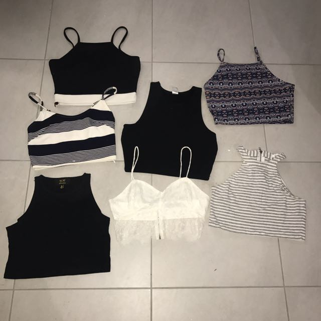 7 ladies crop tops