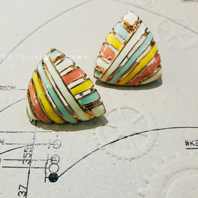 復古線條耳環