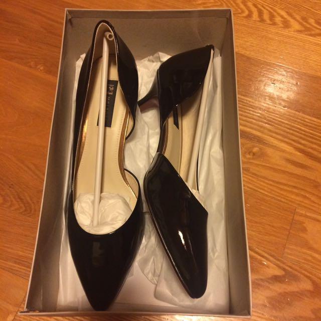 黑色漆皮 鞋跟約五公分 新的