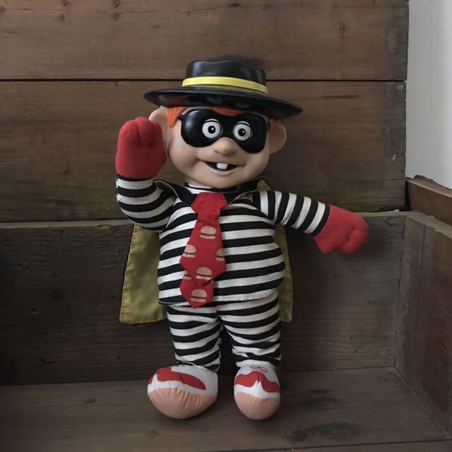早期麥當勞漢堡神偷布偶娃娃 懷舊童玩 收藏品