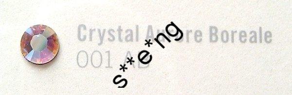 燙石 - ss6,8 Swarovski #2028 施華洛世奇 crystalAB (001AB) 彩白平底燙石 1440原裝封包 包平郵