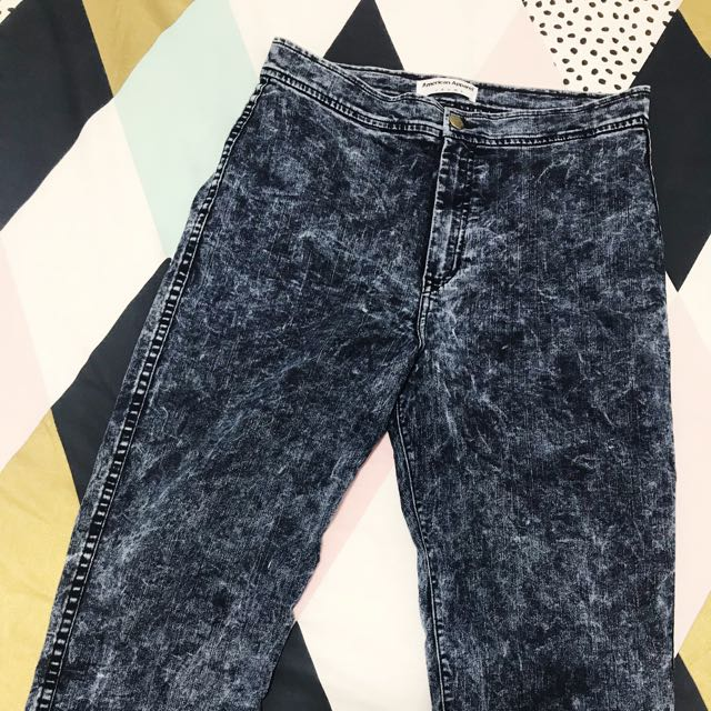 👖 American Apparel Acid Wash High-waisted Jeans (XL) 👖