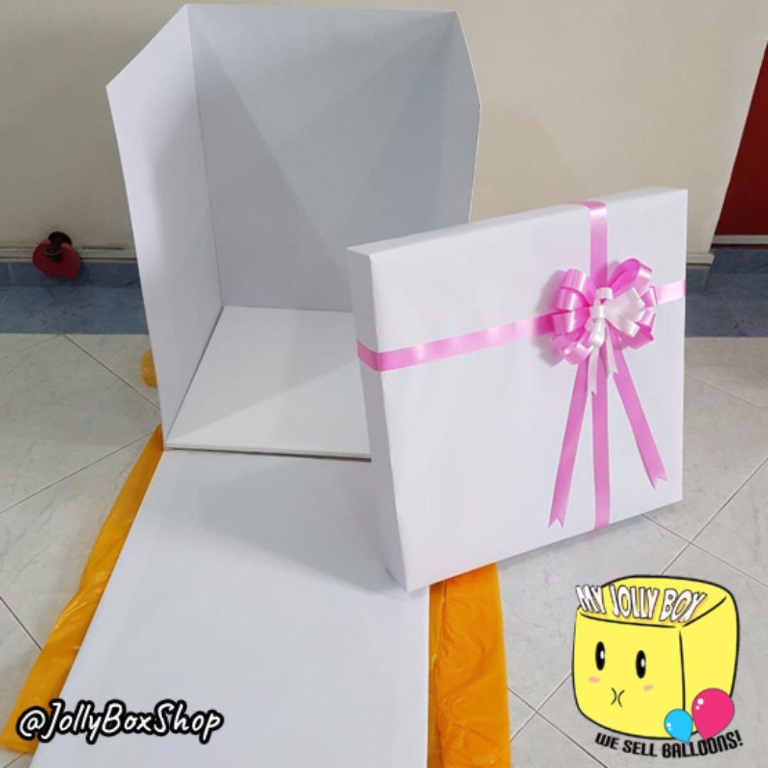 💖 Customized Box with Bubble Balloon Hidden Message | Birthday ...