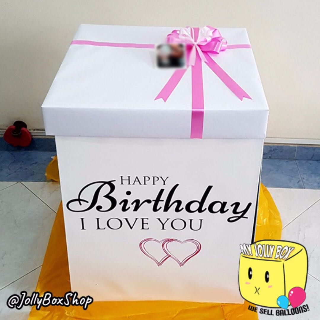 Customized Box With Bubble Balloon Hidden Message