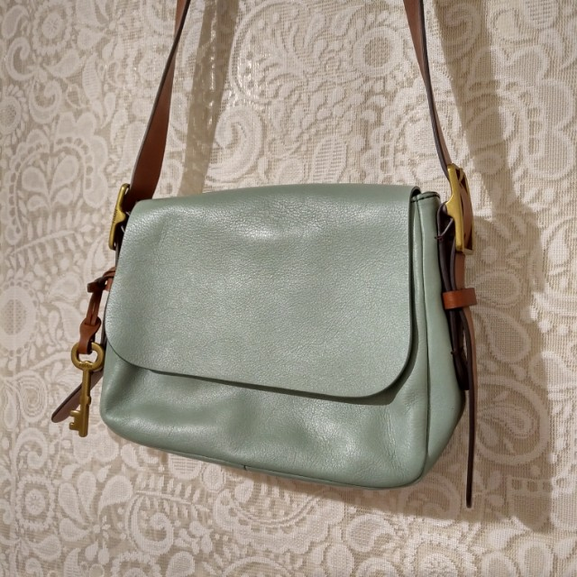 👜 FOSSIL - Harper Small Saddle Crossbody (Seaglass)