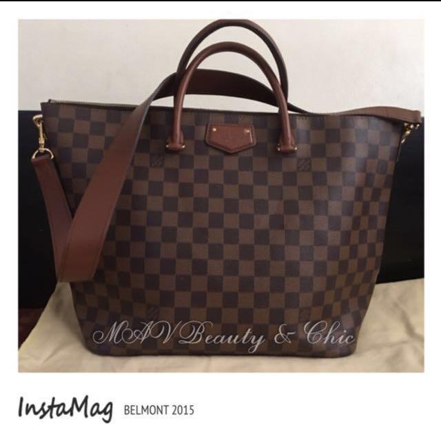 💯% LV Belmont Shoulder/Hand Bag