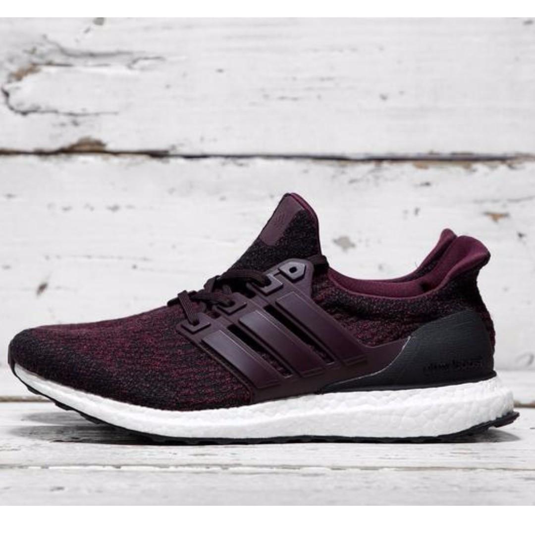 1d69f104c4c ... wholesale adidas ultra boost 3.0 dark burgundy mens fashion footwear on  carousell 9f254 62cfb