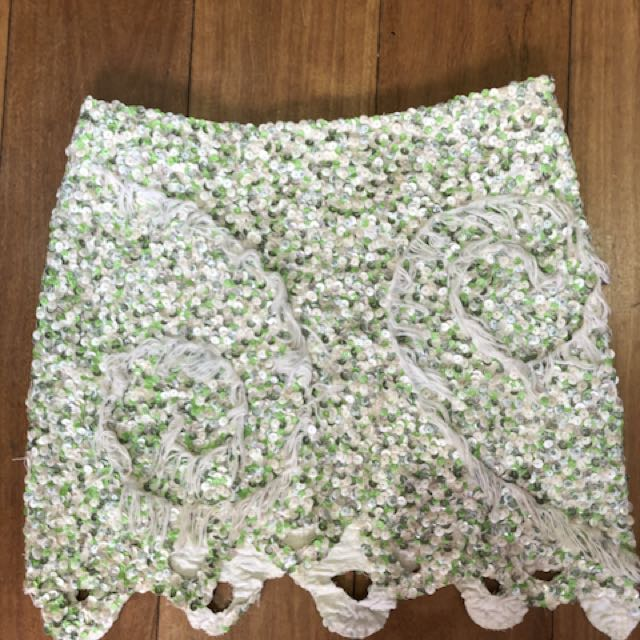 AJE Sequin Skirt Size 6 Xs