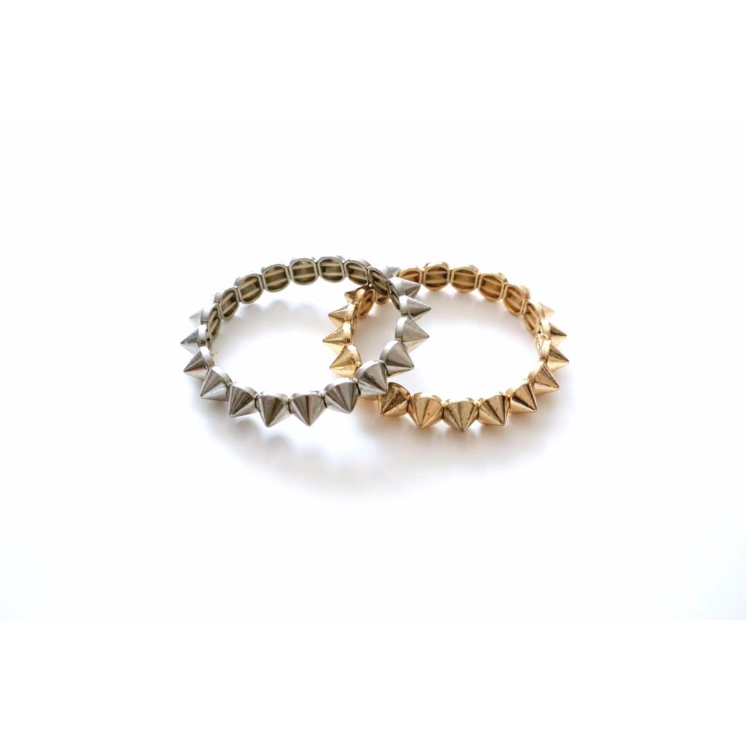 ALDO - Spike Bracelets in Silver & Gold