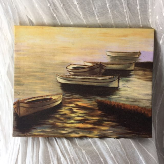ALL 3 BOAT PAINTINGS