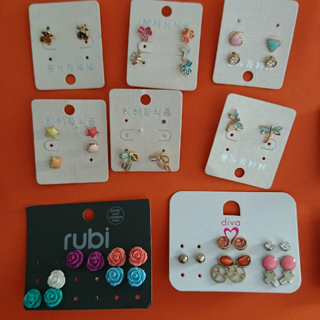 Assortment of new and never worn earrings