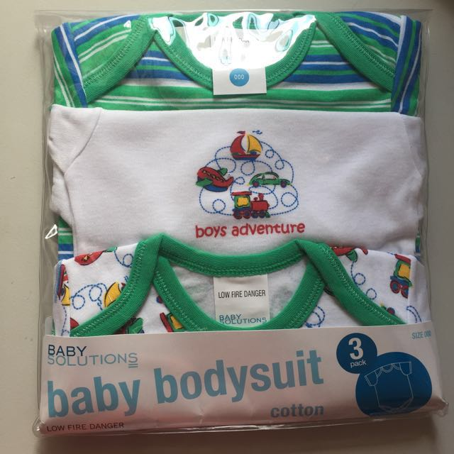 Baby Bodysuit 3 Pack