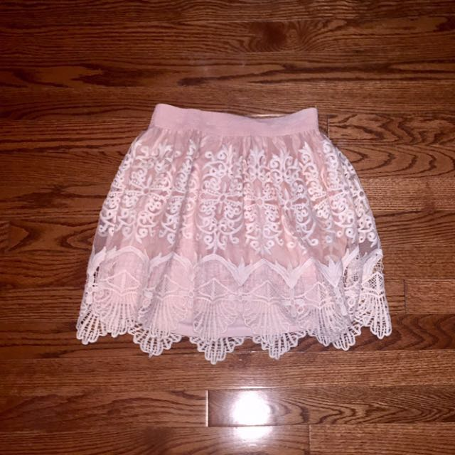 Banana - baby pink mini skirt