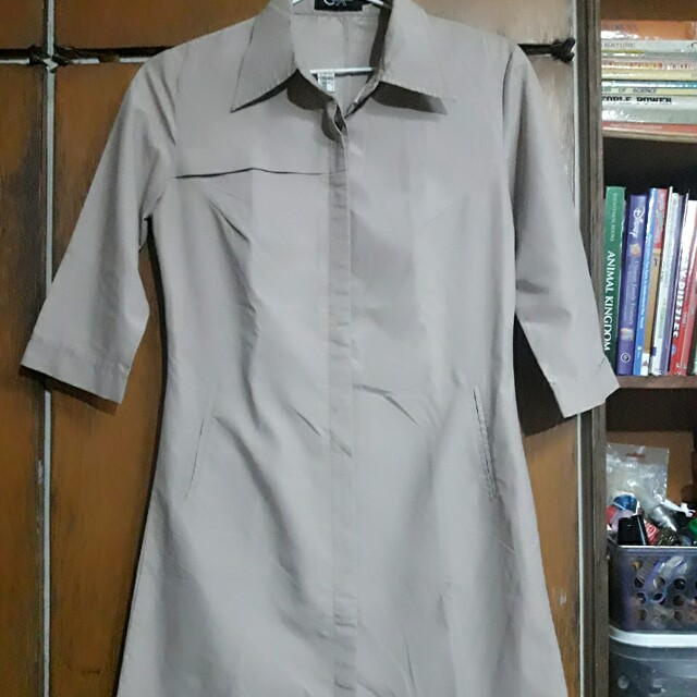 Beige Trenchcoat inspired Dress