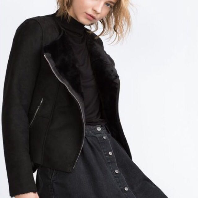 Black Suede Zara Jacket
