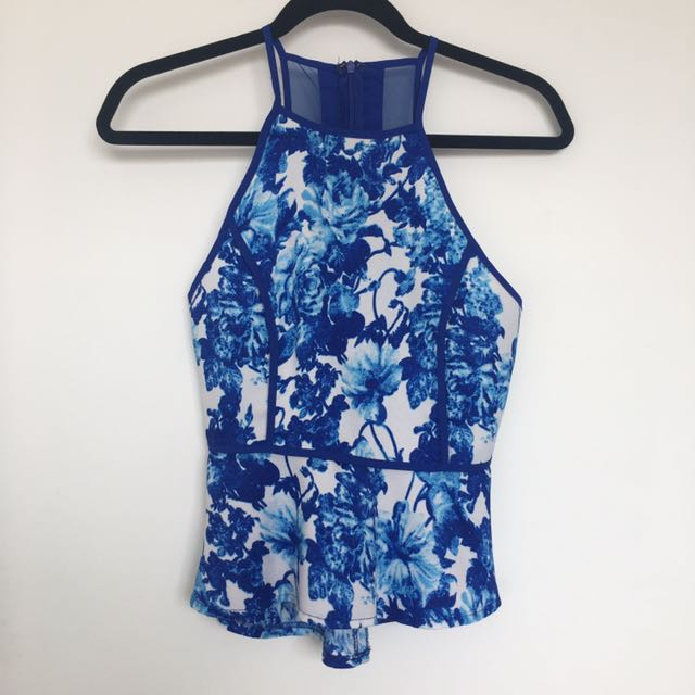 BLOSSOM Size 6 Floral Peplum Top