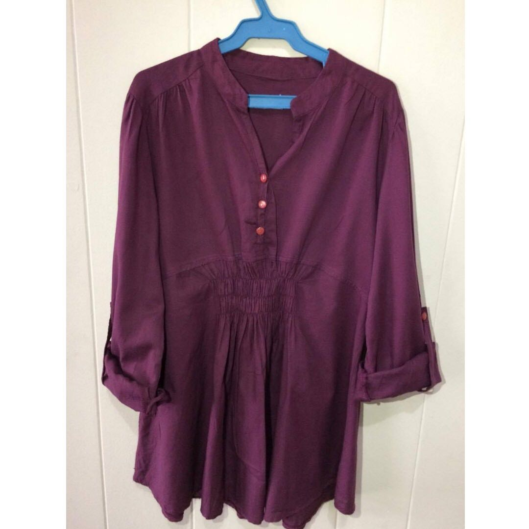 blouse (maroon)