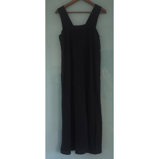 Brand NEW Black Linen & Cotton Maxi Dress
