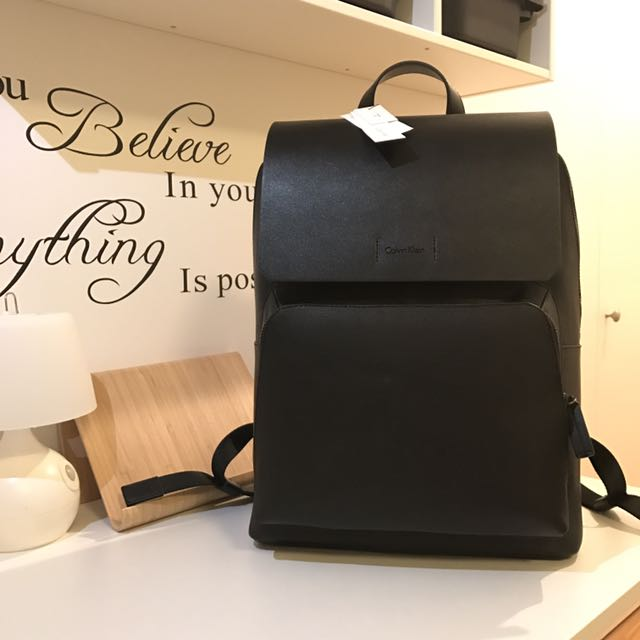Brand New Calvin Klein Leather Backpack Men S Fashion Bags 6ec27243cd7d9