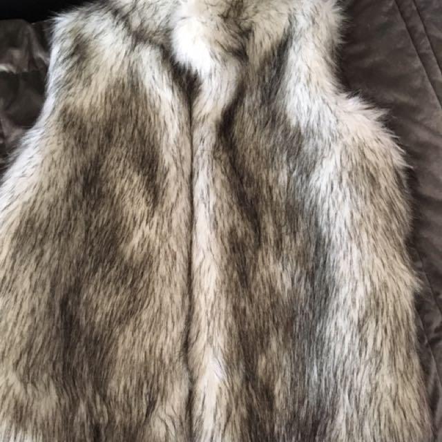BRAND NEW fur vest
