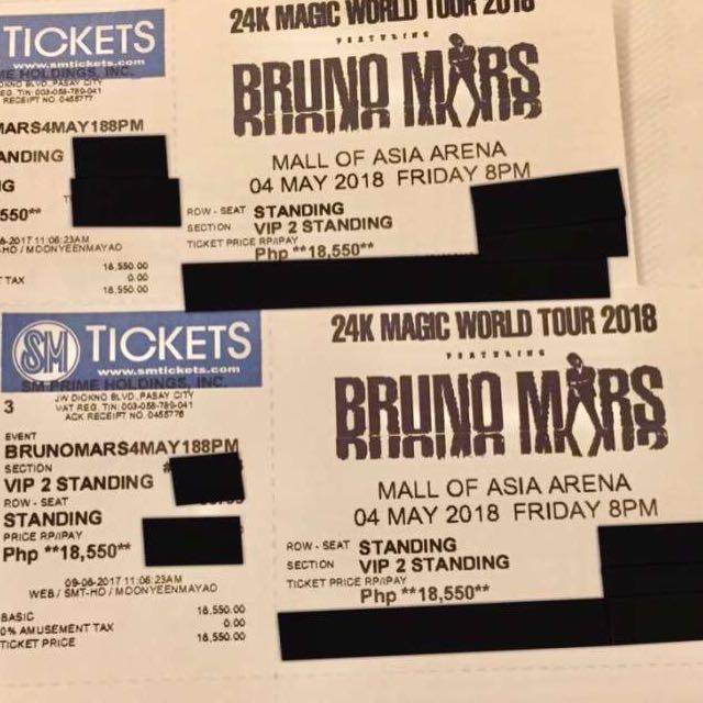 BRUNO MARS 24K Magic Concert 2018
