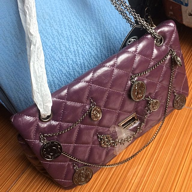 Chanel purple hand bag / tas wanita ungu Chanel