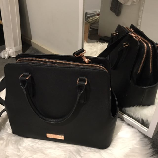 Collete Rose Gold Hardware Bag, Women's Fashion,