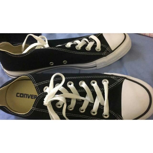 Converse低桶 經典黑 正牌全新 26.5