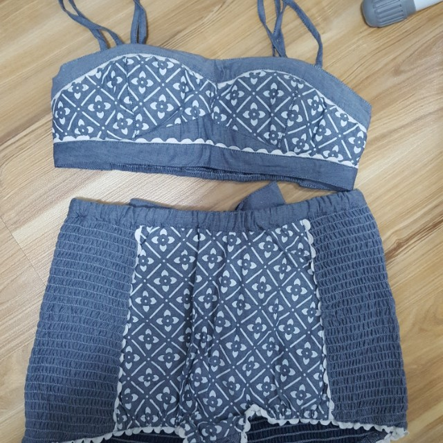 NEW Crop top and high waisted matching shorts