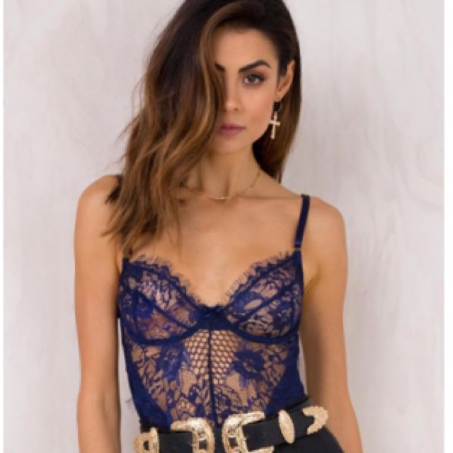 Crystal Ball Lace Bodysuit