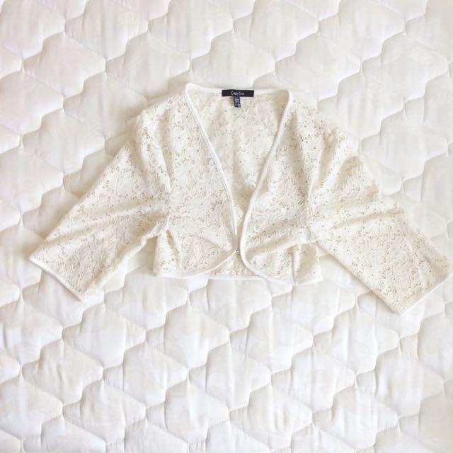 Cute White Lace Crop