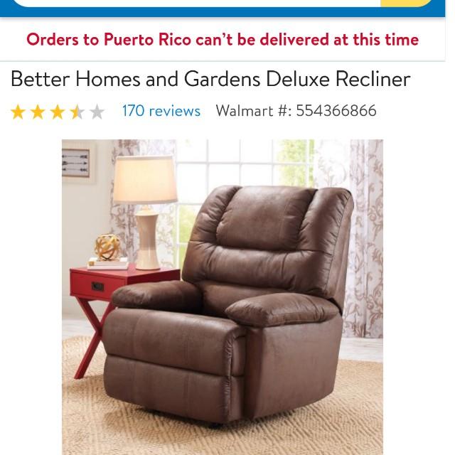 Deluxe recliner