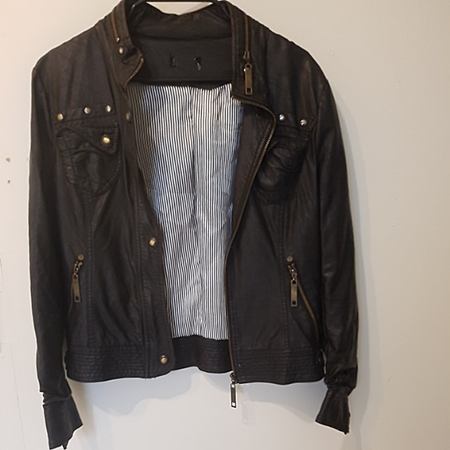 Leather Look Jacket Small #100cash