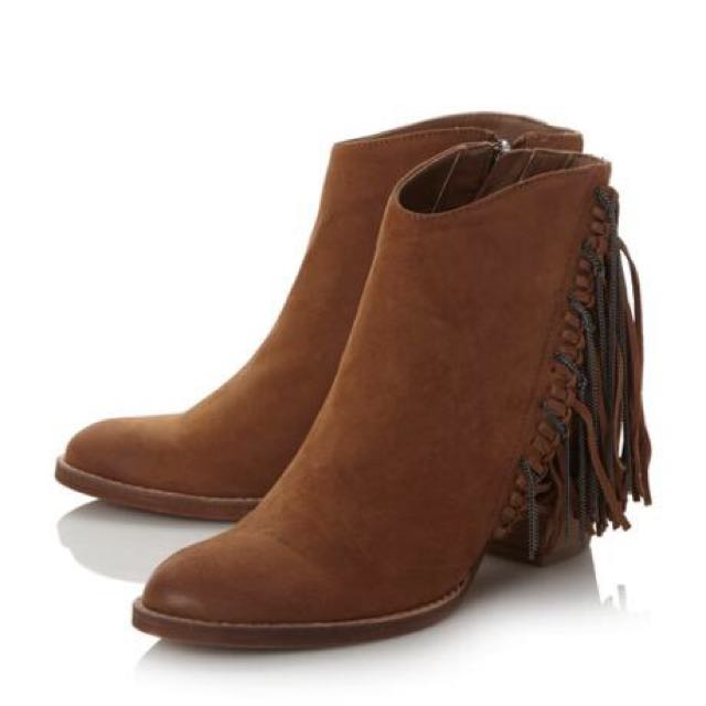 Dolce Vita Brown Juneau Leather Booties