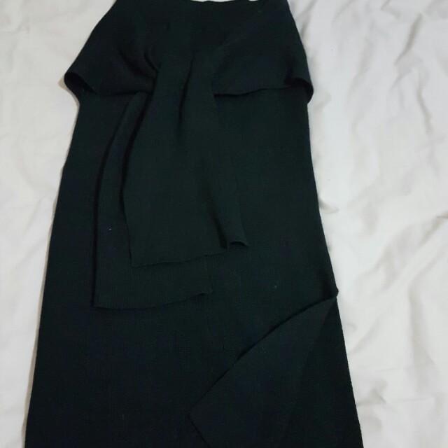 Dotti knitted skirt (black)