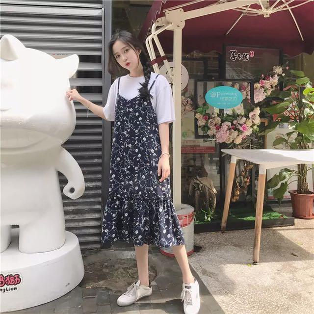 Fl Korean Style Dress Women S Fashion Clothes Dresses Skirts On Carou
