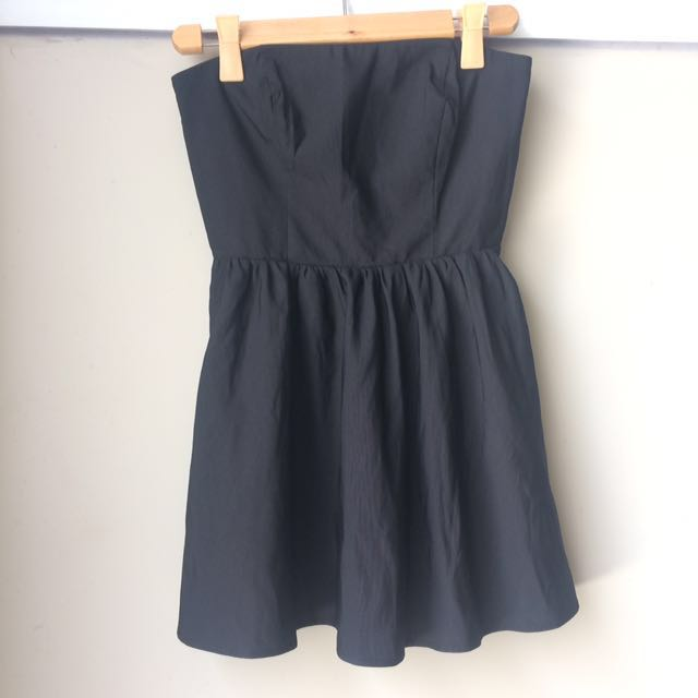 Forever 21 Black Bustier Dress