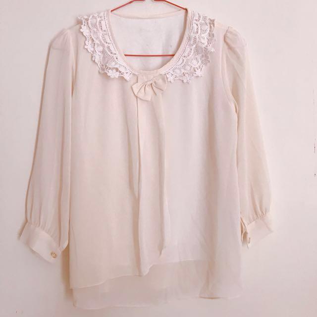 formal white blouse (chiffon)