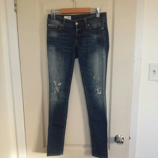 "GAP Dark Wash Distressed ""Always Skinny"" Jeans"