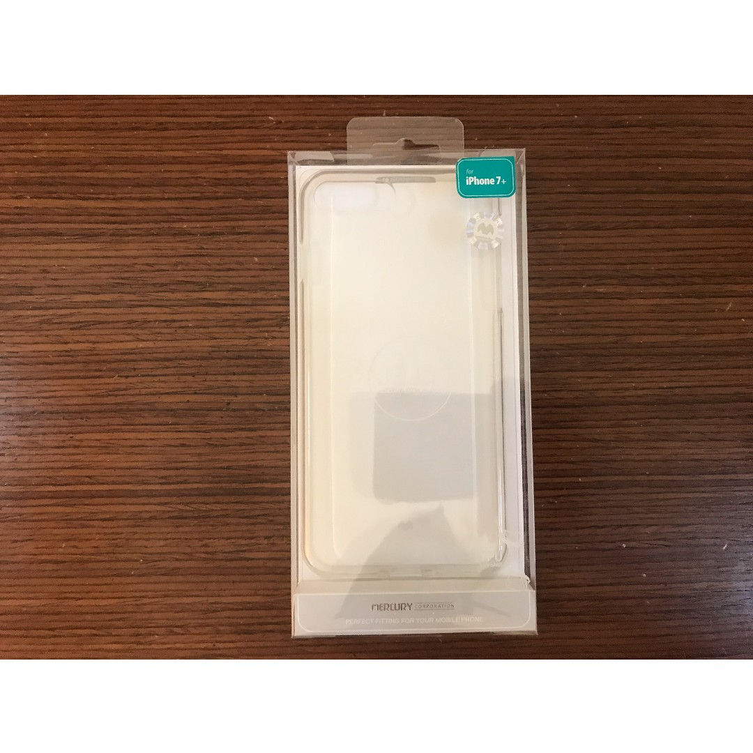 Goospery Mercury Pearl Jelly Case For Iphone 7 8 Plus Clear Black Photo